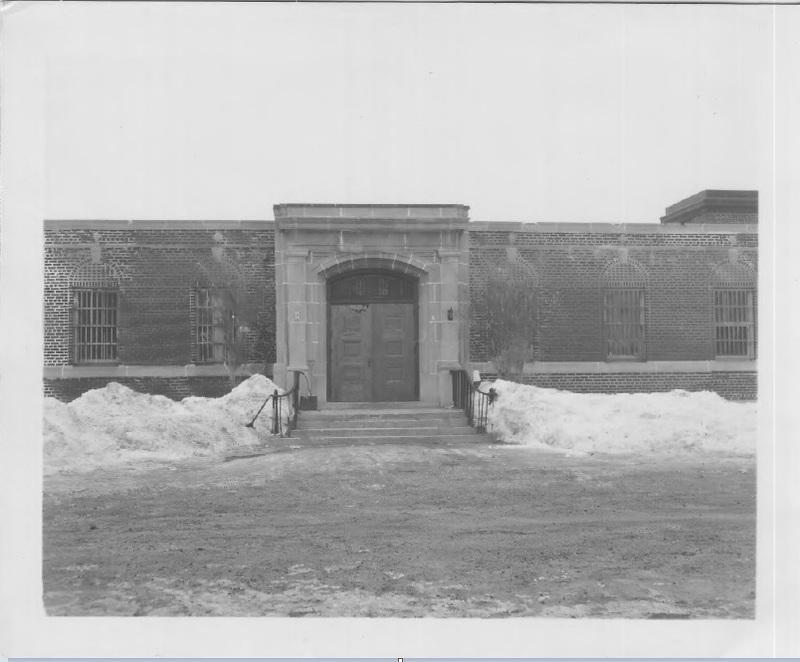 Front façade with doors open