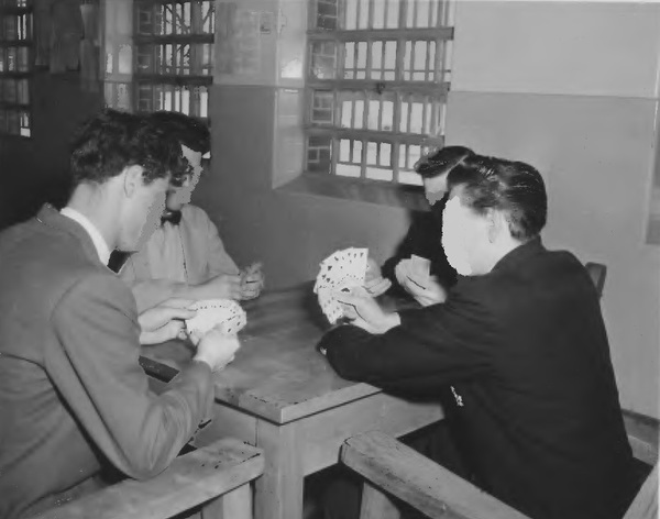Patients playing cards