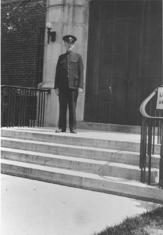Robert MacAulay on steps of Criminal Insane Building