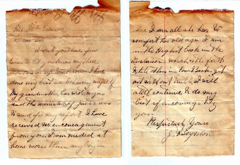 Letter from J. Boynton to T. McCrossan