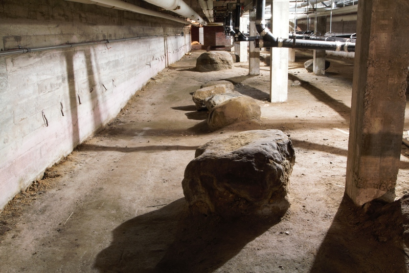 Boulders in the basement