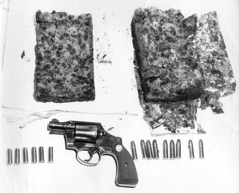 Gun and bullets in cake mailed to patient