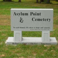 Commemorative marker in patient cemetery