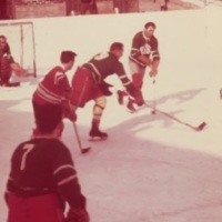 Patients playing ice hockey, Oak Ridge rink, exterior, 1970s-d.jpg