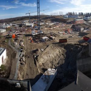 Atrium construction, November 25, 2011