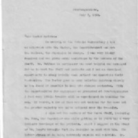 Letter (July 7, 1932) re: meeting staff and patients at Guelph Reformatory