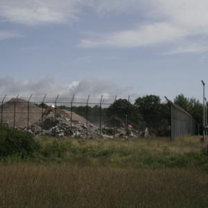 Guard tower during demolition of Oak Ridge