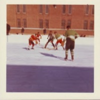 Patients playing ice hockey, Oak Ridge rink, exterior, 1970s-c.jpg