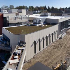 Atrium construction, October 1, 2013
