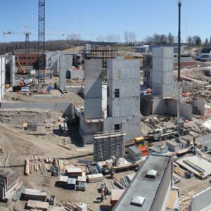 Atrium construction, April 13, 2012