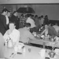 Patients in dining room at Oak Ridge