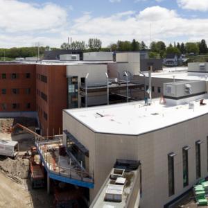 Atrium construction, May 24, 2013