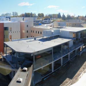 Atrium construction, October 12, 2012
