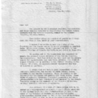 Letter (1933, June 29) confirming that no special act of legislature needed to create Criminal Insane division