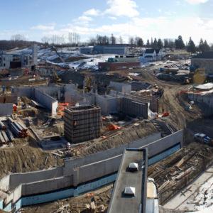 Atrium construction, February 8, 2012