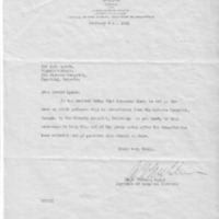 Letter (1933, February 8): McGhie to Lynch concerning date of patient transfer