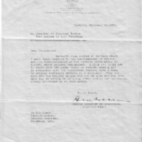 Series of three letters concerning patient transfer from Guelph to Penetanguishene, 1933