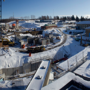 Atrium construction, January 17, 2012