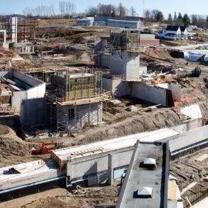 Atrium construction, March 14, 2012