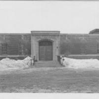 Oak Ridge, front door and façade, exterior, 1950-55.jpg