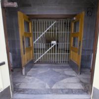 Front doors to Oak Ridge, open