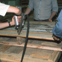 Making wooden palettes