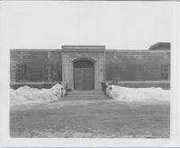 Oak Ridge, front façade, doors open, exterior, 1950-55.jpg