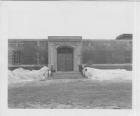 Oak Ridge, front door and façade, exterior, 1950-55.jpg